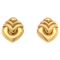 Bvlgari 18k Gold Earrings