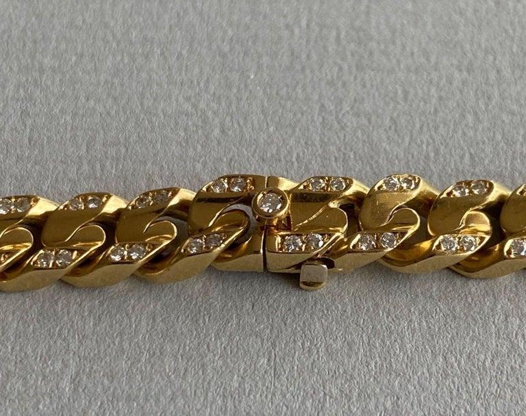 Italian Bvlgari 18-Karat Gold Necklace with Diamonds For Sale