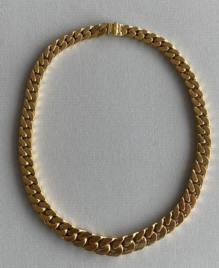 Bvlgari 18-Karat Gold Necklace with Diamonds In Good Condition For Sale In , CH