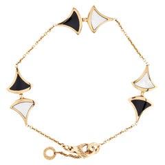 Bvlgari 18 Karat Rose Gold, Mother of Pearl and Onyx Divas' Dream Bracelet