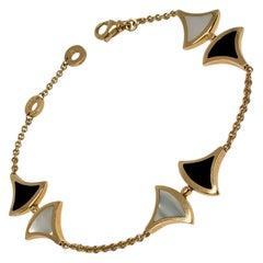 Bvlgari 18K Rose Gold Mother-of-Pearl Onyx Divas' Dream Bracelet