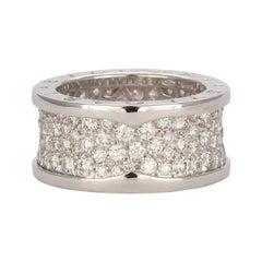 Bvlgari 18k White Gold & Diamond B.Zero1 Ring Ref. 345593 Bulgari Retail $18,900