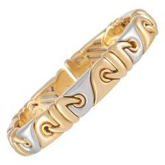 Bvlgari 18k Yellow Gold and Stainless Bracelet