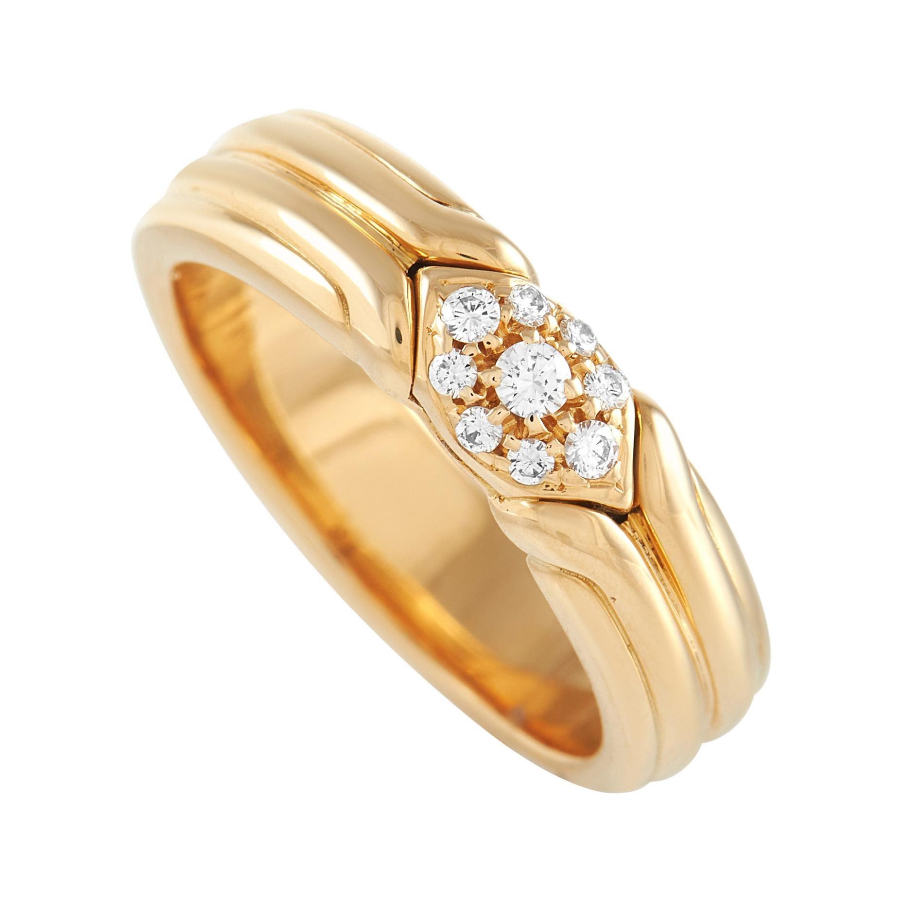Bvlgari 18k Yellow Gold Diamond Ring