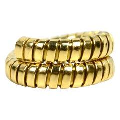 Bvlgari 18k Yellow Gold Tubogas Wrap Ring sz 6/ 51