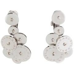 Bvlgari 18 Karat White Gold Ladies Clip-On Earrings