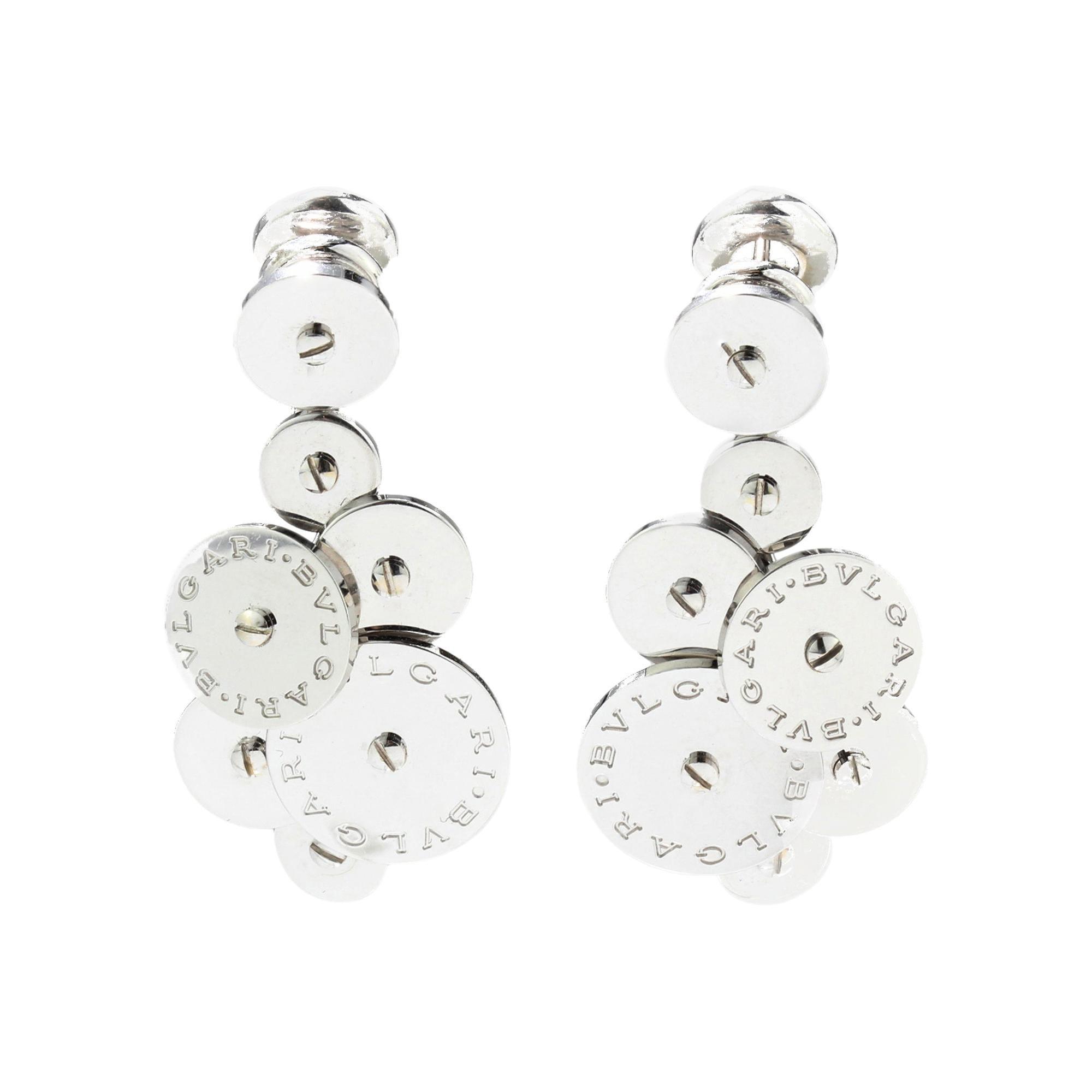 Bvlgari 18kt White Gold Ladies Clip-On Earrings