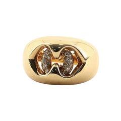 Bvlgari Abbraccio Ring 18 Karat Yellow Gold with Diamonds