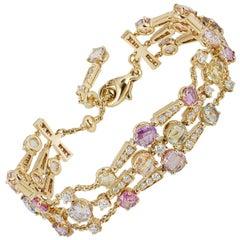 Bvlgari Allegra Yellow Gold Sapphire and Diamond Bracelet