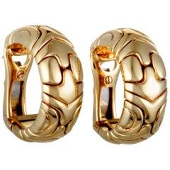 Bvlgari Alveare 18 Karat Yellow Gold Huggie Earrings