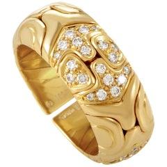 Bvlgari Alveare 18 Karat Yellow Gold Diamond Band Ring