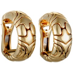 Bvlgari Alveare Yellow Gold Huggie Earrings