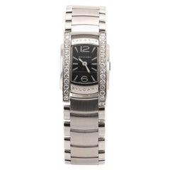 Bvlgari Assioma D Quartz Watch Stainless Steel with Diamond Bezel 18
