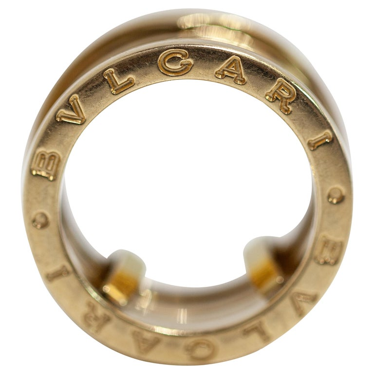 0824ee09d210b Bvlgari B Zero 1 Design 18 Karat Yellow Gold Four Band Ring For Sale ...