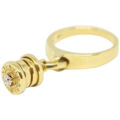 Bvlgari B-Zero 1 Yellow Gold and Diamond Charm Ring