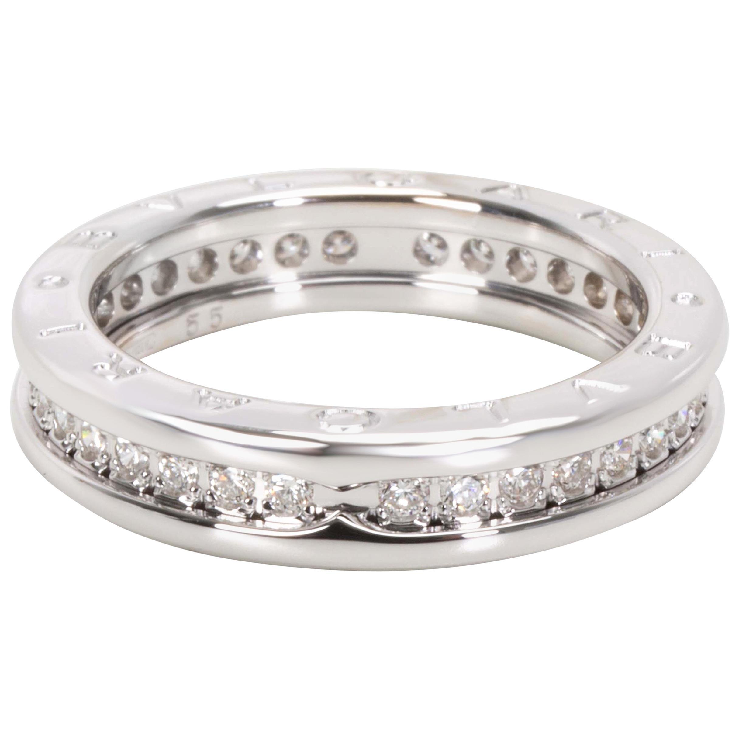 Bvlgari B. Zero Diamond Ring in 18 Karat White Gold '1 Carat'