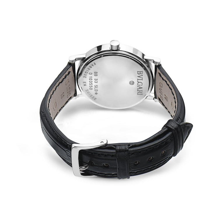 Modern Bvlgari BB 33 SLD Stainless Steel Watch For Sale