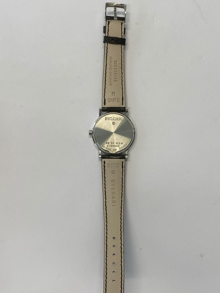 Bvlgari BB 33 SLD Stainless Steel Watch In Excellent Condition For Sale In New York, NY