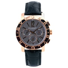 Bvlgari BBP42GLCH Limited Gray Dial Automatic 18K Rose Gold Box & Paper