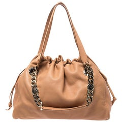 Bvlgari Beige Leather Bonton Tote