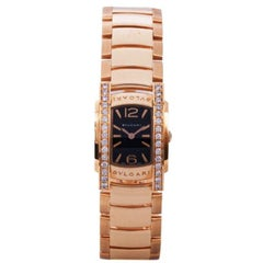 Bvlgari Black 18K Rose Gold Assioma Damen Armbanduhr 22MM