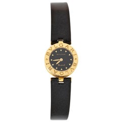 Bvlgari Black 18K Yellow Gold B.Zero1 BZ 22 G Women's Wristwatch 22 MM