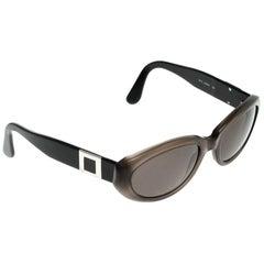 Bvlgari Black/Brown 810 Oval Sunglasses