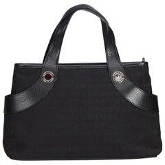 Bvlgari Black Canvas Handbag