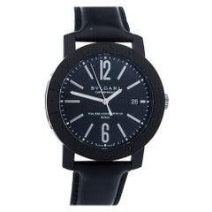 Bvlgari Black Carbongold Via Dei Condotti 10 Roma BB 40 CL Men's Wristwatch 40MM