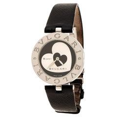 Bvlgari Black Dial With Heart Motif Inlay B.Zero1 BZ30S Women's Wristwatch 30 mm