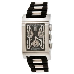 Bvlgari Black Rettangolo RTC49S Chronograph Men's Wristwatch 29 mm