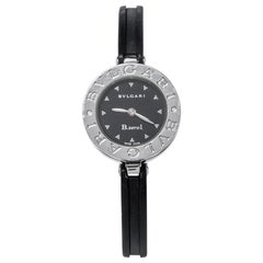 Bvlgari Black Stainless Black Resin B.Zero1 BZ 22 S Women's Wristwatch 22mm