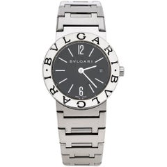 Bvlgari Black Stainless Steel Bvlgari BB26SS Women's Wristwatch 26 mm