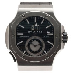 Bvlgari Black Stainless Steel Daniel Roth Men's Wristwatch 50MM