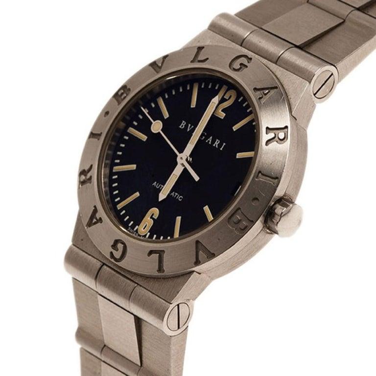 Bvlgari Black Stainless Steel LC 29 S Women's Wristwatch 29MM In Fair Condition For Sale In Dubai, Al Qouz 2
