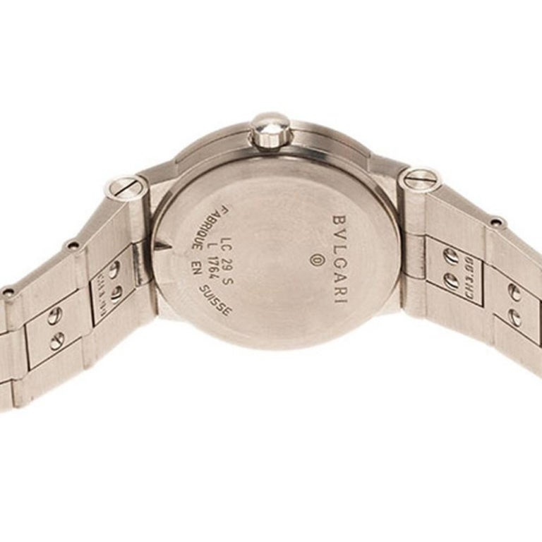 Bvlgari Black Stainless Steel LC 29 S Women's Wristwatch 29MM For Sale 1