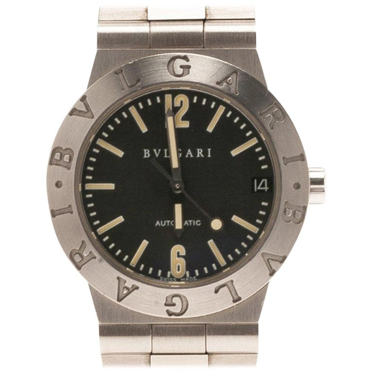 Bvlgari Black Stainless Steel LC 29 S Women's Wristwatch 29MM For Sale