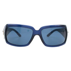Bvlgari Blue Swarovski Crystal Embellished Sunglasses