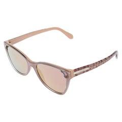 Bvlgari Blush Pink 8208 Mirror Cat Eye Sunglasses