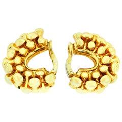 Bvlgari Bone Collection Yellow Gold Clip Earrings
