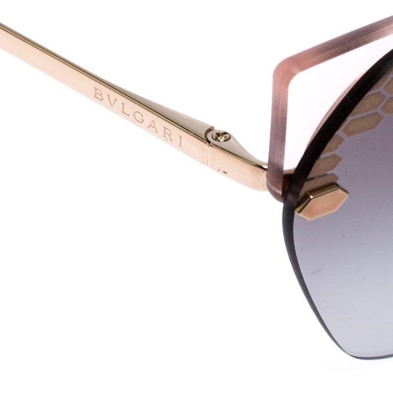 Bvlgari Bronze/Grey Gradient Serpenteyes Sunglasses In New Condition For Sale In Dubai, Al Qouz 2