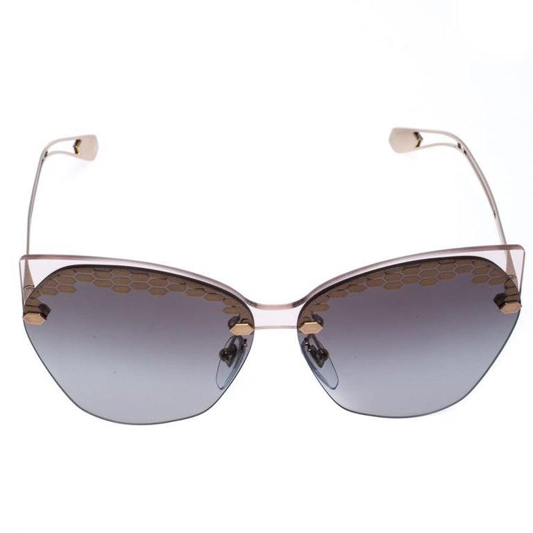 Women's Bvlgari Bronze/Grey Gradient Serpenteyes Sunglasses For Sale