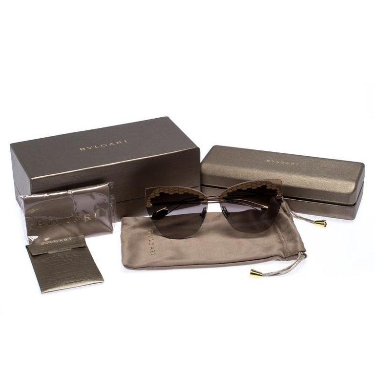 Bvlgari Bronze/Grey Gradient Serpenteyes Sunglasses For Sale 3
