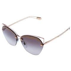 Bvlgari Bronze/Grey Gradient Serpenteyes Sunglasses