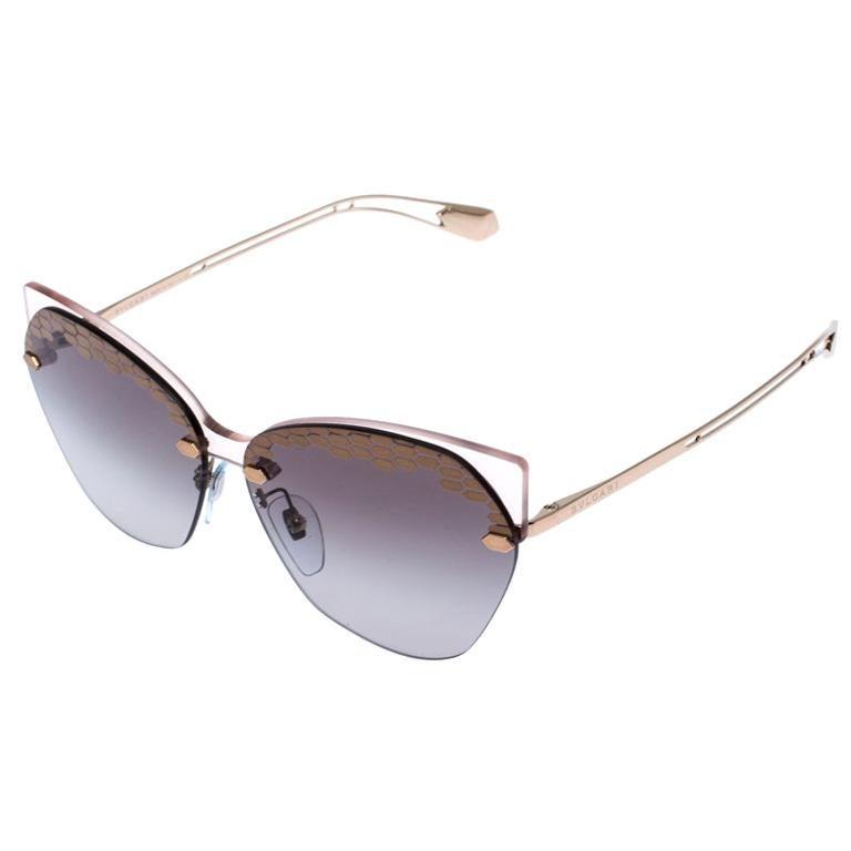 Bvlgari Bronze/Grey Gradient Serpenteyes Sunglasses For Sale