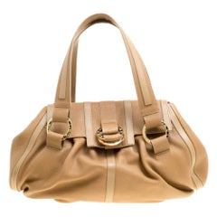 Bvlgari Brown Leather Polly Satchel