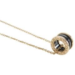Bvlgari Bulgari 18 Karat Rose Gold B Zero One Necklace with Black Ceramic