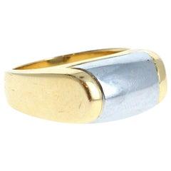 Bvlgari Bulgari 18k Yellow & White Gold Tronchetto Ring 8.4g