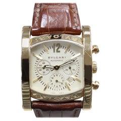 Bvlgari Bulgari Assioma Men's Watch AA44 G CH Chronograph 18 Karat Yellow Gold