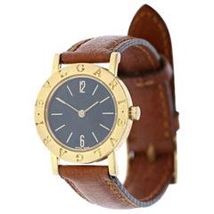 Bvlgari Bulgari BB26GL Quartz 18 Karat Gold Leather Watch 36980